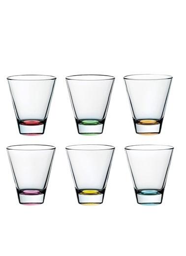 Vidivi Cam Su Bardağı 6'Lı Set Renkli